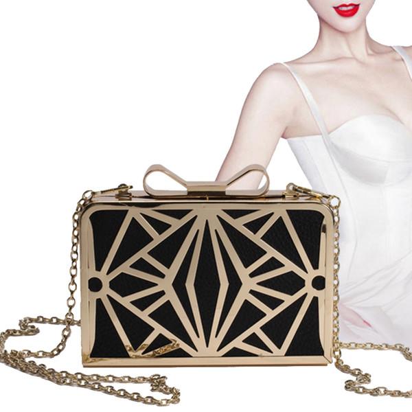 Großhandels- 2016 neue Mode Frauen Handtaschen Metall Patchwork Shinning Umhängetasche Damen Rosa Tages Clutch Hochzeit Abendtaschen Mini Bag