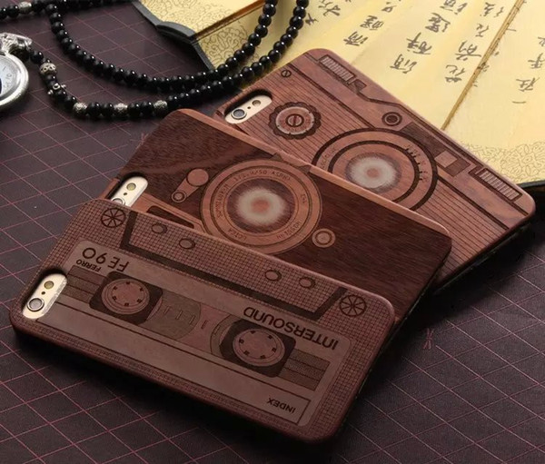 For Apple iphone 6 6S plus iphone 7 plus SE Wood case Bamboo Custom Design Wooden PC cell phone cases For Samsung Accessory