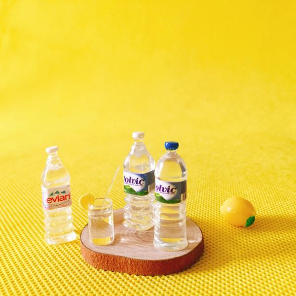 10 mineral water bottles/cup/miniatures food/dinnerware/artificial/fairy garden gnome/terrarium decor/bonsai/figurine/doll house