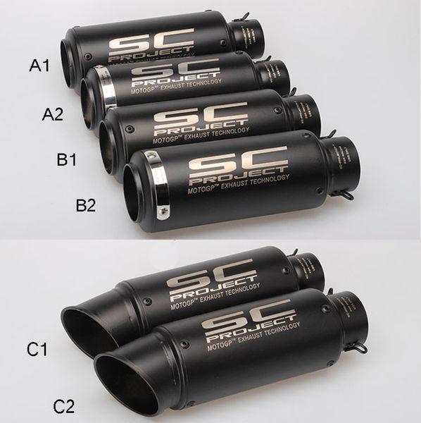 61mm 51MM Motorrad GP Auspuff Schalldämpfer SC Auspuff Auslass für Kawasaki Yamaha Honda S1000RR 2008-2013 2014 2015 2016