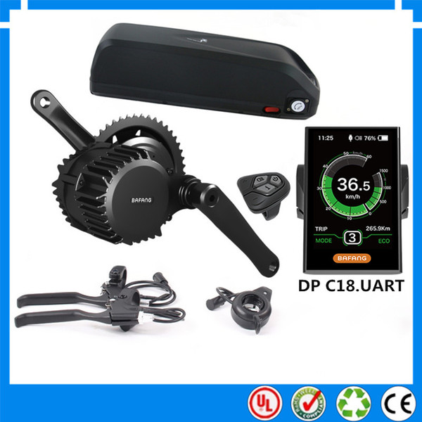 EU NO Tax NEW bafang mid drive bafang 48V 1000W electric bike motor kits with hailong 52V 17.5Ah Li-ion down tube ebike battery