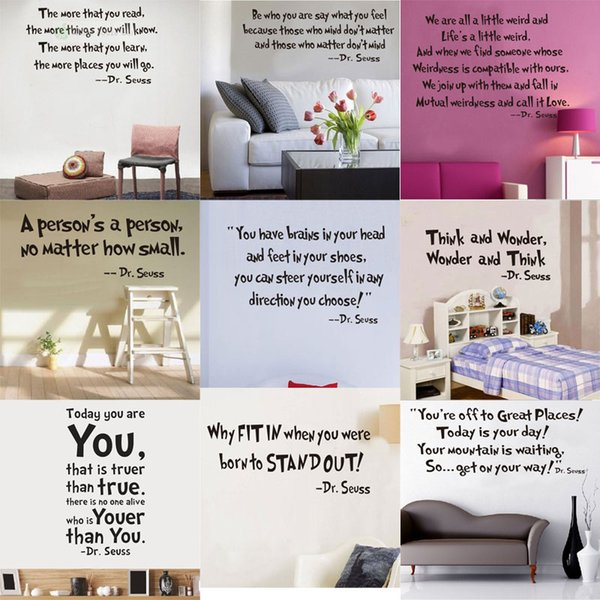 New Removable Wall Stickers Dr Kids Quotes Decal Home Accessories Beautiful Letter Design Decoration Tree Stickers For Wall Tree Wall Art Stickers