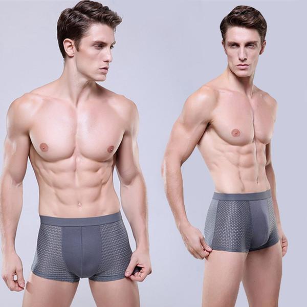 Fashion Men U Convex Design Breathable Underwear Gay Hollow Out Penis pocket Men Boxer Comfortable Modal Sexy Shorts Underpants XXXL