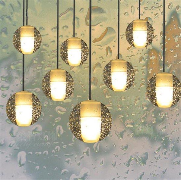 Merdivenler için LED Kristal Cam Avizeler Kolye Işık Dubleks Otel Hall Mall G4 Led lambalar ile AC 100-240 V CEFCCROHS Led DIY Aydınlatma 888