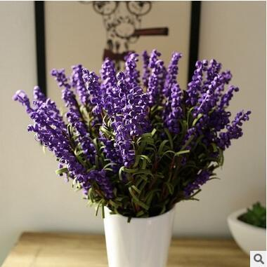 Wholesale Wedding Flower Lavender Decorative Flowers Romantic Wedding Flowers Artificial Fake Lavender Flower Home Decoration 5 Color