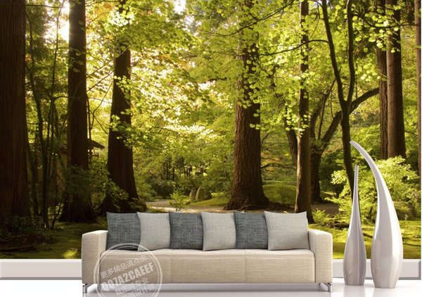 best selling mural 3d wallpaper Big tree sunny background wall customized wallpaper for walls