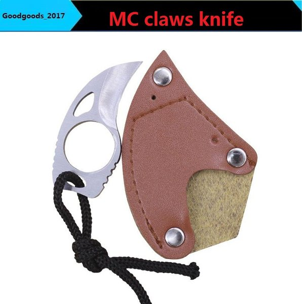 Outdoor MC claws Hunting knife Survive Tactical Knife Jungle Field mini EDC Camping Hunting Knives Gift collection tools