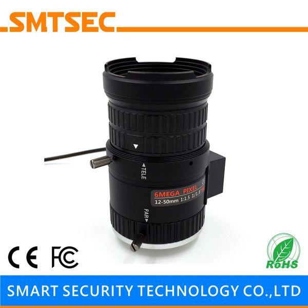 "Wholesale- SL-1250A6MPP P-IRIS 1/1.8"" 6.0MP 12-50mm F1.5 AUTO IRIS CS Mount CCTV HD IP Camera Lens for CCTV Security Camera"
