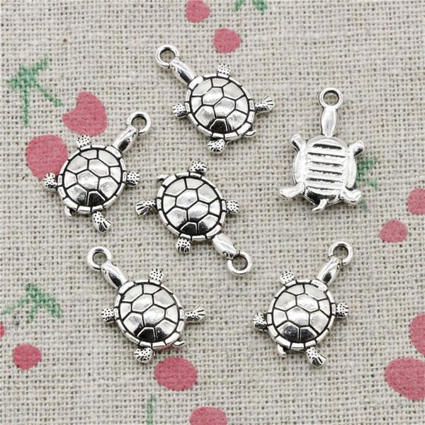 118pcs Charms tortoise turtle sea 18*11mm Antique Silver Pendant Zinc Alloy Jewelry DIY Hand Made Bracelet Necklace Fitting