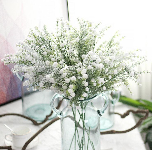 Artificiale Gypsophila Bouque Fiori Matrimonio Falso Babysbreath Fiori Festa di Natale Decorazione da tavola Bouquet Simulazione Respiro di Babys