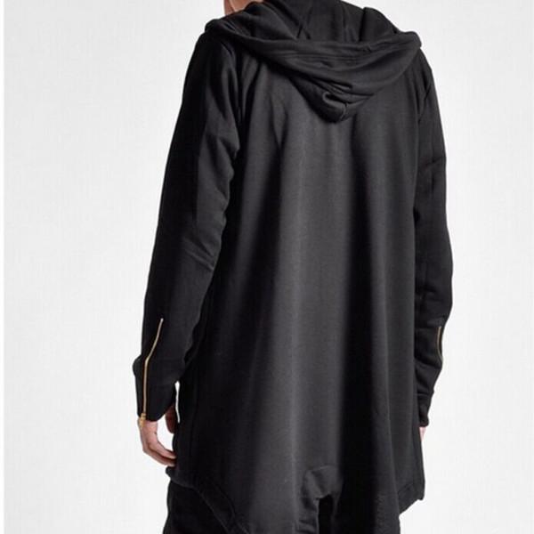 Wholesale- 2016 New Fashion Men Autumn Winter Medium Hooded Cardigan Long cotton coat jacket parka Men Cloak Coat Top Outwear