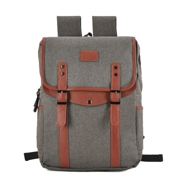 New Arrival Men Backpacks Canvas School Bag Computer Bag Multi-functional Shoulder Bag Casual Travel Outdoor Student High Capacity VK5044-1