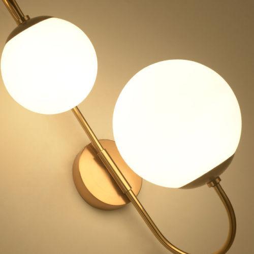En Vieilli 2 White Laiton Moderne Light Lampe Milky Foyer 6 Globe Acheter Murale Feux Ombre Intérieur De119 Applique Verre tBhQdCxrs