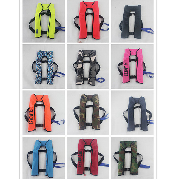 best selling Wholesale- New Automatic Inflatable Life Jacket 5 Seconds Quick Inflate And Produce Above 15kg Buoyancy Life Vest