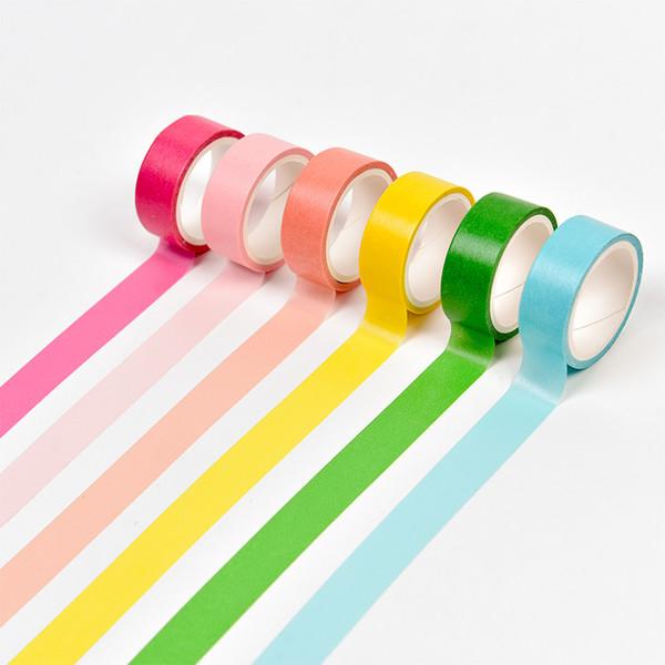 Al por mayor-2016 TDO diy Color del caramelo Cintas adhesivas de papel creativo Washi Tape Diy Scrapbooking Pegatina Papelería School Supplies Papeleria
