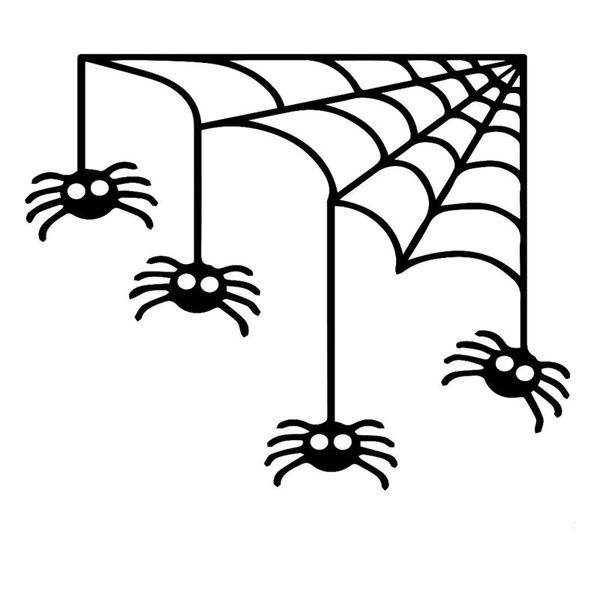 Spider and Web Funny Car Styling Individual Window Vinyl Waterproof Car Stickers
