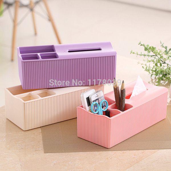 Wholesale- plastic boxes of tissue,Desktop multifunction tissue box holders,Desktop pumping tissue box ideas dispenser,Free Shipping J16092