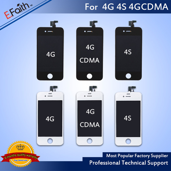 Wholesale-Front Assembly LCD Display Touch Screen Digitizer Replacement Part For iPhone 4 4G 4S & Free DHL Shipping