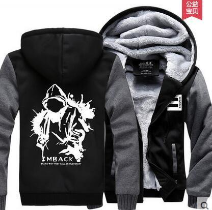 Großhandels-heiße neue Eminem Hoodie-Hip-Hop-Winter-Vlies-Mens-Sweatshirts geben Verschiffen frei