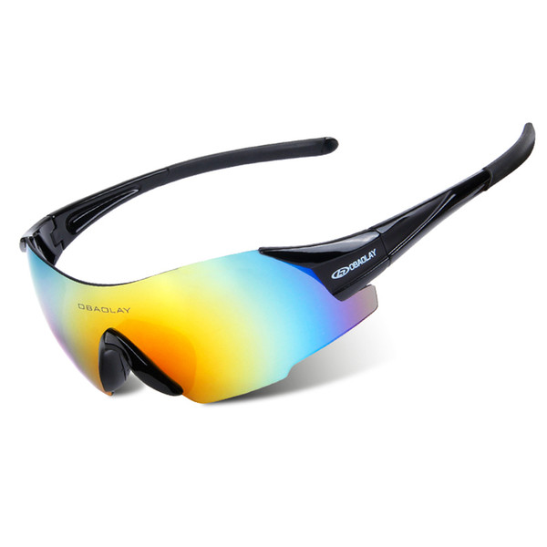 top popular Cycling Sunglasses - Polarized Sports Sunglasses Rimless Sunglasses for Men Women UV400 Bike Glasses Mountain Running Golf Hiking, 6 Colors 2019