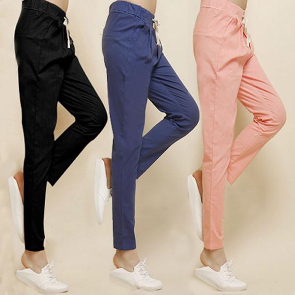 Spring Women Pants 2017 Casual Loose Womens Long Pants Fashion Designer Linen Harem Pants Pantalones De Femininos Plus Size 5XL