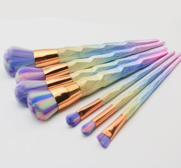 New Cheap Brush kit Professional Vander 7pcs Cream Power Makeup Brushes Multipurpose Beauty Cosmetic Tools Puff Batch Kabuki Blusher