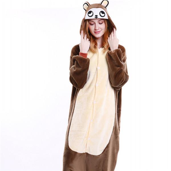 nuovo di zecca 54d6c 825fa Acquista Pigiami Onesies All'ingrosso Unisex Animal Cartoon Pigiama Donna  Set Uomini Costume Cosplay Brown Scimmia Tutina Sleepwear MX 009 A $24.9  Dal ...