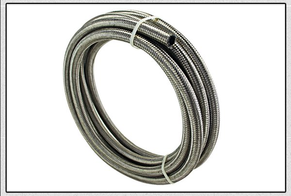 top popular FACTORY SALES 5METERS AN6 6AN AN-6 STAINLESS STEEL BRAIDED FUEL HOSE FITTING OIL FUEL HOSE 2021