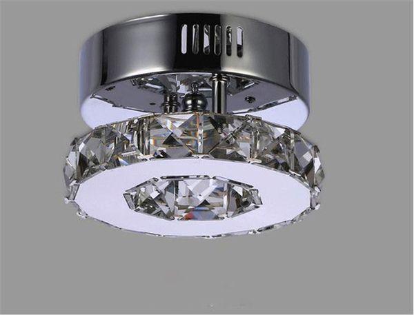 Unbedeutende einzelne Kristalldeckenlampe des Ringes D17cm führte Ganglichter Edelstahlflurausgangsbalkon-Esszimmerbeleuchtung