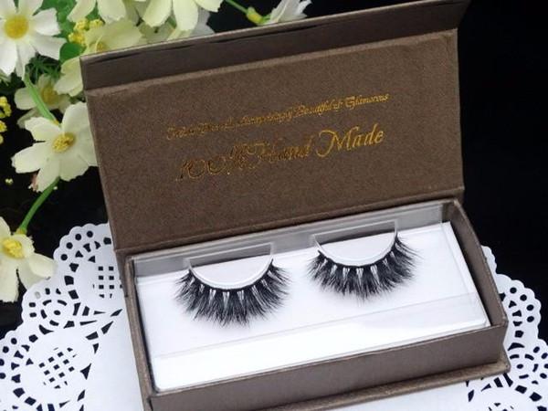 Luxury Human Hair Eyelash Extensions Thick Fake False Single Eyelashes Individual Mink Volume Eye Lashes Natural