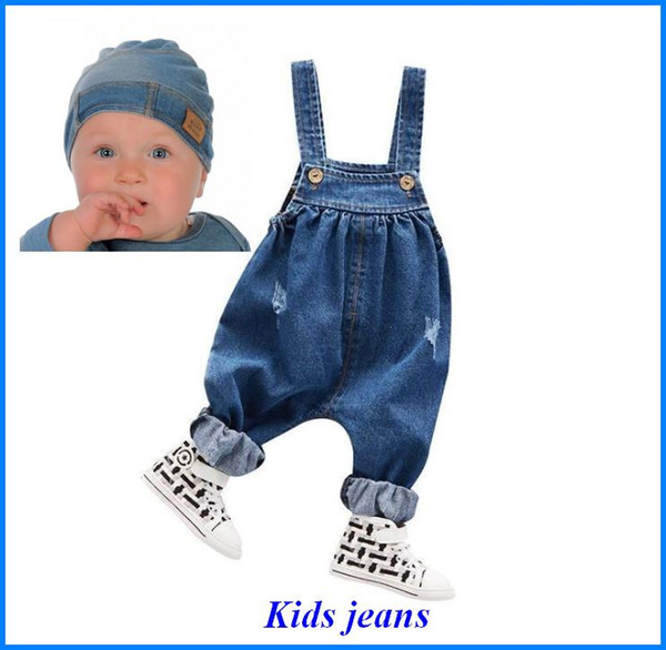 Kids Jeans Rompers Pants Overalls kids Jumpsuit baby Boy Girl Jeans bobo choses for Autumn Winter Cotton fit for Outdoors Kid318