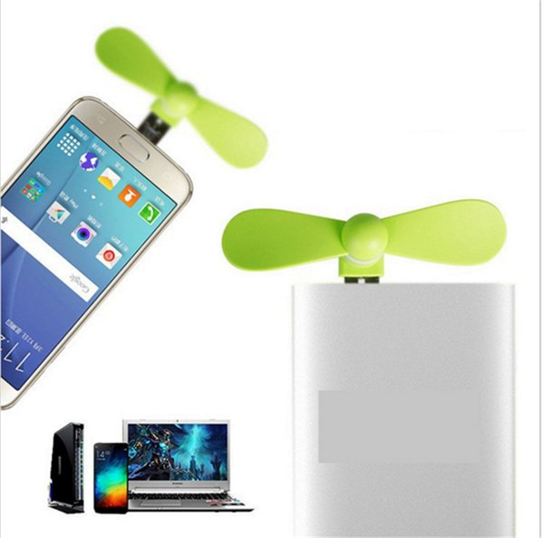 Wholesale- 2 in 1 Mini Cool Portable Power Bank USB Fan Micro USB fans Gadgets Tester For Xiaomi HTX android mobile phone 18650 Powerbank