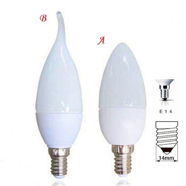 360 Winkel LED Kerze Lampe 5W 7W E14 E27 110V 220V Kronleuchter Licht SMD 2835 Warm Cool White High Bright SMD Kristall Birne