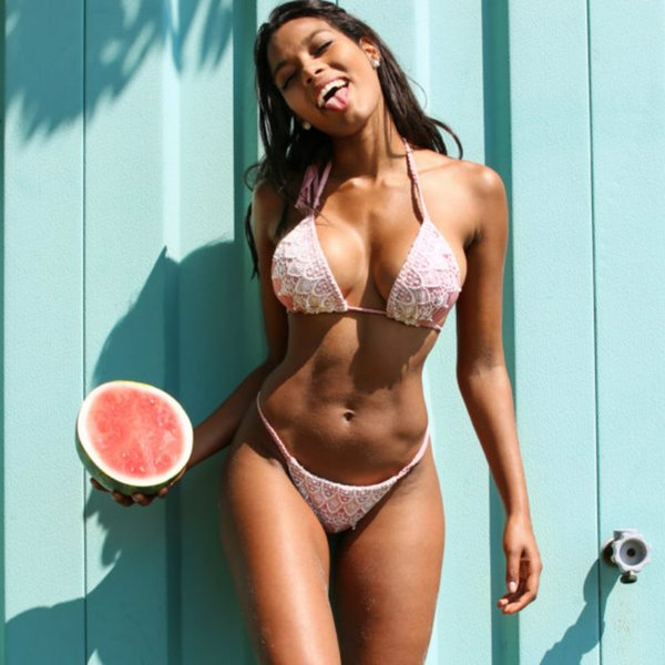 summer swimsuit women lace bikini halter thong swimsuit girls beachwear two piece low waist brazilian biquini