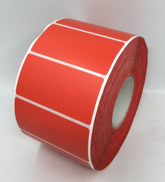 top popular 60*30MM 1500PCS roll direct print blank paper sticker color package barcode sticker 2021
