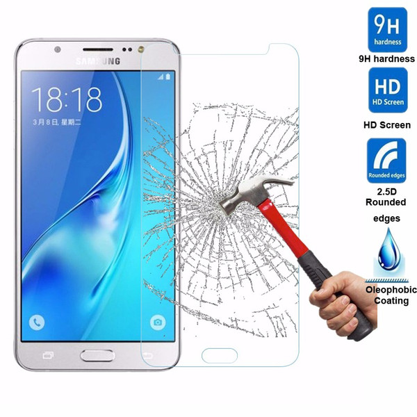 For For Samsung Galaxy A3 A5 A7 A8 A9 A310 A510 A710 E5 E7 C5 9H Premium 2.5D Tempered Glass Screen Protector 200pcs/lot