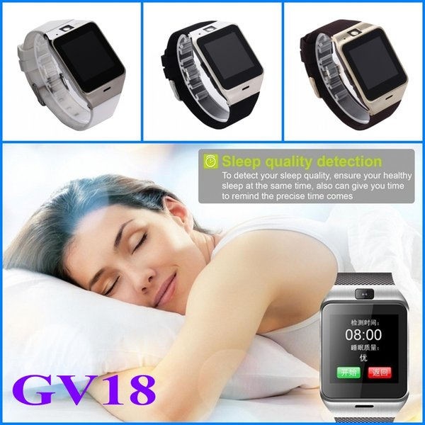 Bluetooth Smart Watch GV18 Smartwatch With NFC Camera Function SIM GSM Phone Sync Call Reminder For Android IOS Wearable