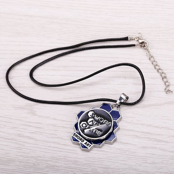 Free Shipping New Arrival Anime Jewelry Sword Art Online Logo Necklace Rotatable Pendant Alloy Fashion Personality Jewelry Necklace