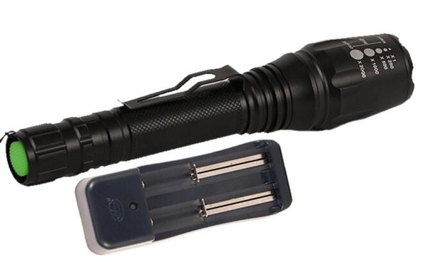 5 Modes Tactical XML-T6 Flashlight Zoom LED Flashlight Torch for hunting cycling