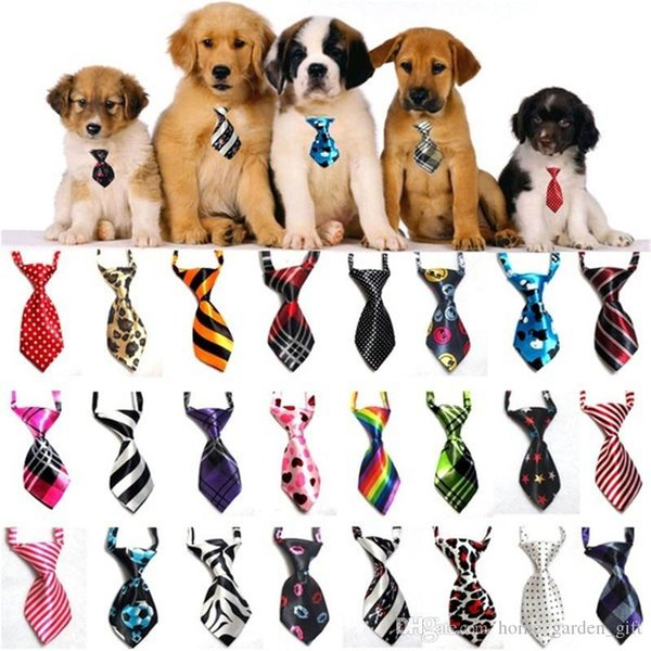 Pet Dog Bow Ties Mix Colors Handmade Adjustable Pet Dog Bow Ties Cat Neck ties Dog Grooming Supplies