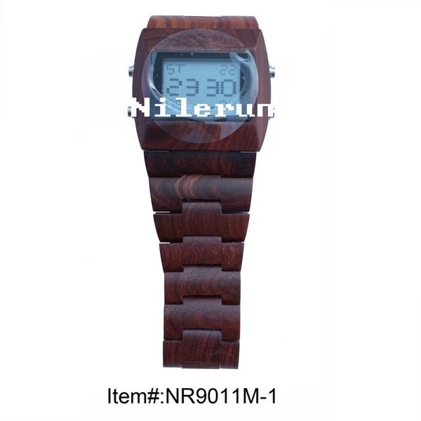 el yapımı doğal kırmızı sandal elektronik kol saati