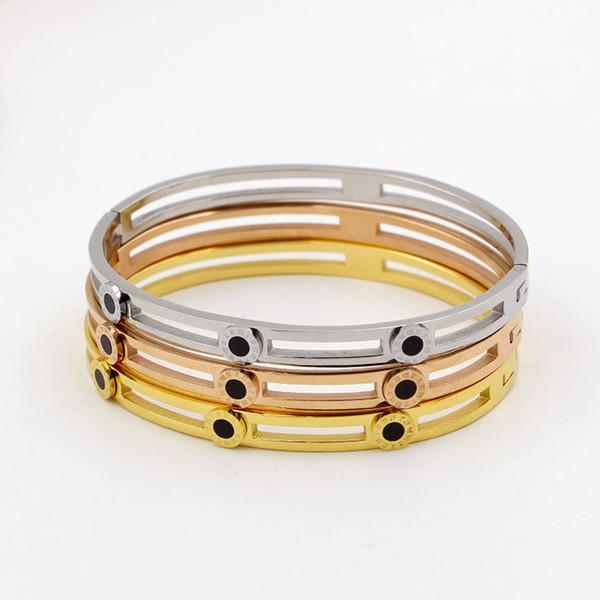 Cuff stainless steel Bracelets & Bangles for Women Men Jewelry Female Charm Bracelet Pulseiras Bijoux Accessories