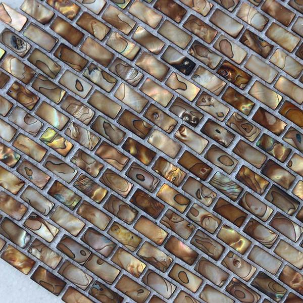 10x20mm античный золотой цвет перламутровая раковина мозаика ванная комната туалет