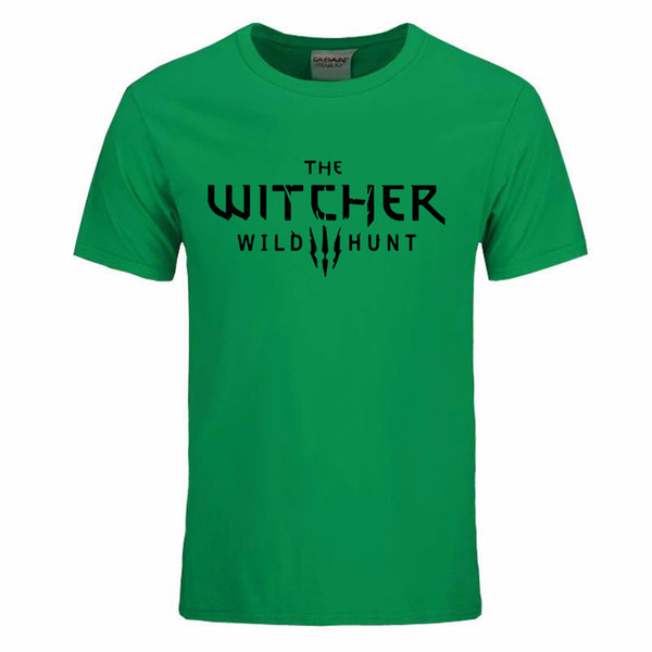2020 The Witcher 3 T Shirt Summer Style Men Cotton Fashion T-Shirt Wild Hunt Men Clothing Tops O-Neck Short Sleeve Tee