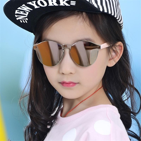 Fashion Sunglasses Baby Boys Girls Kids sunglasses Vintage Round Sun Glasses Children Arrow Glass 100%UV Protection Oculos De 3-13 years