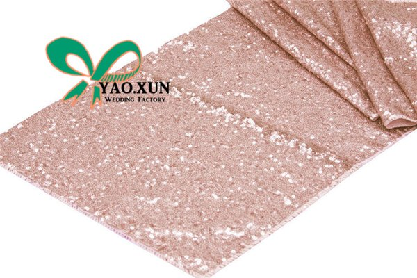 best selling Hot Sale Sequin Table Runner \ Wedding Table Cloth Runner Decoration