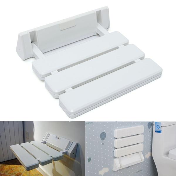 Toptan-Farklı Fiyat Duvara Monte Katlanabilir Tabure Banyo Duş Koltuk Katlama Spa Tezgah Uzay Tasarruf Beyaz Renk