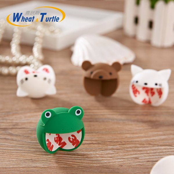 Wholesale- 1Pcs Baby Safety Silicone Protector Cover Cute Animal Cartoon Table Corner Protector Child Kids Anticollision Corner Guards