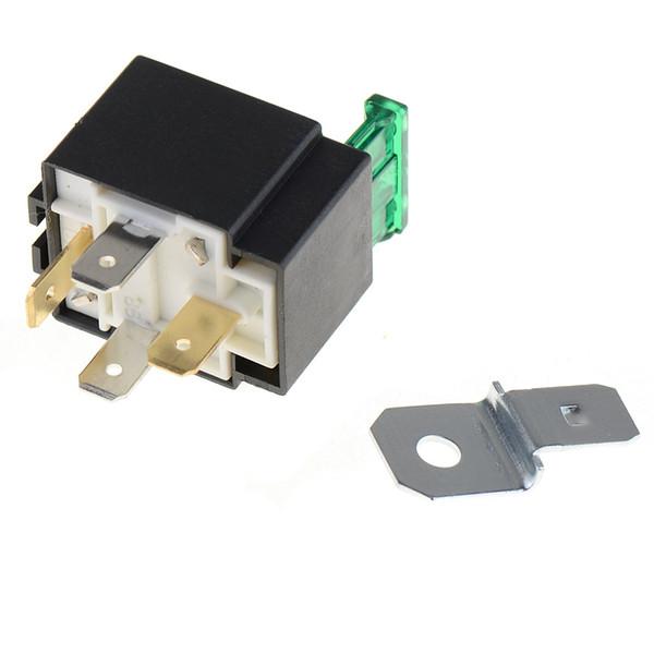 30 Amp 4 Pin Relè fusibile per auto Spotlamp Spot Lampade fendinebbia Supporto per scatola base M00052 VPRD