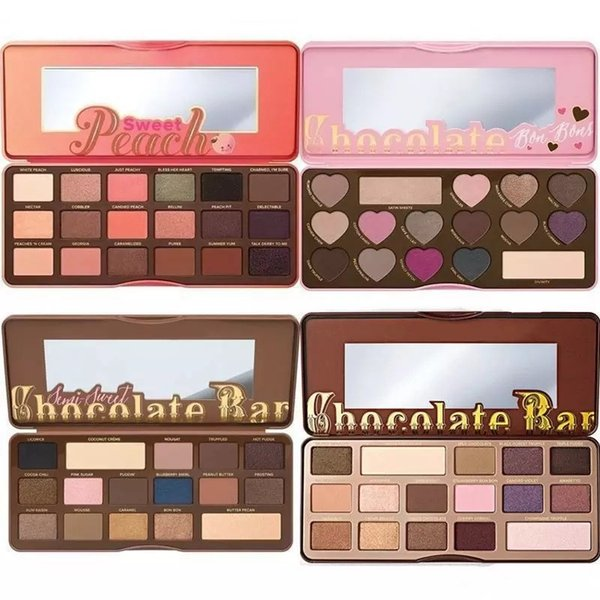 top popular Stocking! Makeup Chocolate Bar Eyeshadow semi-sweet Sweet Peach Bon Bons Palette 16 Color Eye Shadow plates 2019